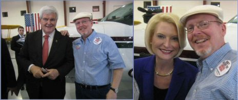 Newt and Callista Gingrich with John Jonelis