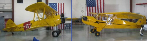 Vintage Stearman and Piper Cub