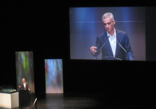 Mayor Rahm Emanuel at the Chicago Innovation Awards