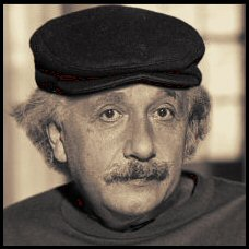 Einstein with Cap