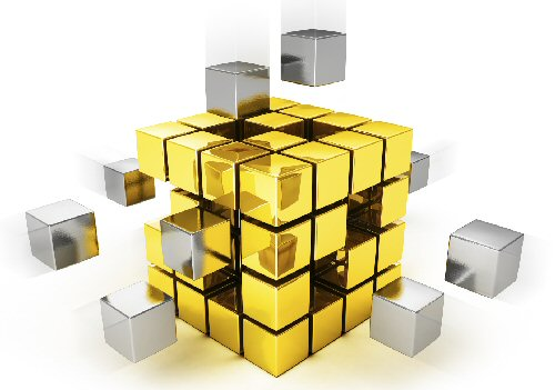Gold rubics cube 500