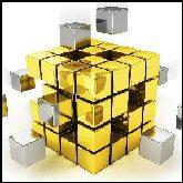 Gold rubics cube T