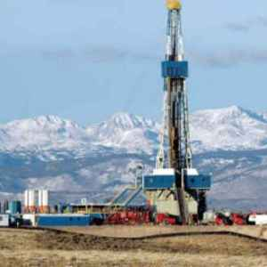 oil well in Rockies